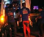 Ang pagresponde ng UNTV News and Rescue Team Davao  sa isang morista na naaksidente sa R. Castillo Street, Agdao, Davao City nitong Miyerkules ng hatinggabi. (UNTV News)