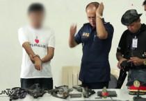 Positibong itinuro ng suspek na si Dominador Tumala ang 4 na armas na kanilang ginamit sa pag-ambush kay  Iligan District Rep. Vicente Belmonte Jr. (UNTV News)