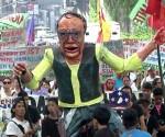 Ang protestang inihanda ng Migrante International kasabay ng pagdiriwang ng International Migrants Day nitong Huwebes, Disyembre 18. (UNTV News)