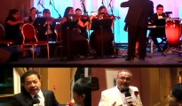 Upper half: Fil-Am Symphony Orchestra; Lower Left: Ruben Nepales, Board of Director ng FASO; Lower Right: Robert Shroder, FASO Musical Director/Conductor (UNTV News)