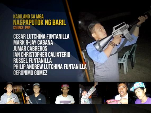GRAPHICS: Mga nagpaputok ng baril sa pagsalubong sa 2015 na nasa isang video na kumalat sa social media kamakailan. (PNP)