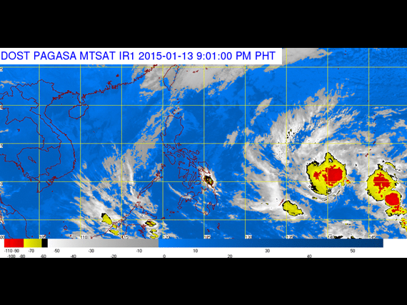 PAGASA-DOST Satellite Image as of January 13, 2015, 9PM
