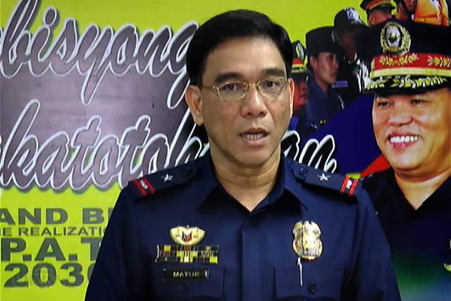 FILE PHOTO: PNP PIO Chief P/CSupt. Wilben Mayor (UNTV News)