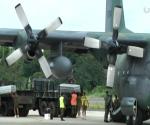 Ang C130 ng Philippine Air Force na nagkarga ng mga labi ng mga miyembro ng PNP-SAF sa Maguindanao. (UNTV News)