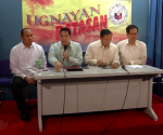 (Left-Right) MAGDALO Representatives Gary Alejano and Ashley Acedillo,  Pangasinan Representative Leopoldo Bataoil and ACT-CIS party-list Representative Samuel Pagdilao (UNTV News)