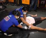 Ang pagresponde ng UNTV News and Rescue Team sa isang motorcycle accident sa Maynila nitong madaling araw ng Huwebes, January 29, 2015. (UNTV News)