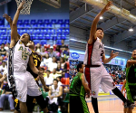 (Left-Right) AFP Cavaliers'  Wilfredo Casulla #15 and MMDA Black Wolves Joether Mallare #24 (MAIA GARCIANO / MADZ MILANA / Photoville International)