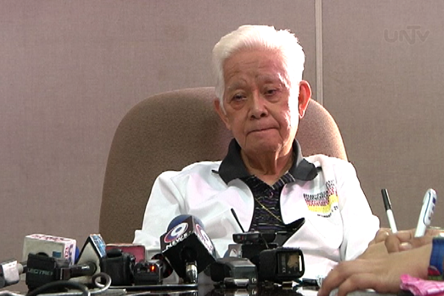 FILE PHOTO: COMELEC Chairman Sixto Brillantes Jr. (UNTV News)