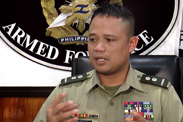 AFP Public Affairs chief Lt. Col. Harold Cabunoc (UNTV News)