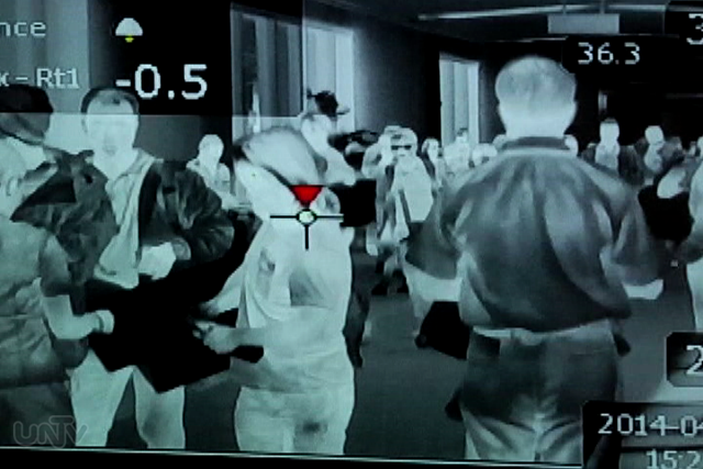 FILE PHOTO: Captured image at NAIA thermal scanner in March 2014 (UNTV News)
