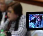 FILE PHOTO: Department of Justice Secretary Leila De Lima at Mamasapano clash hearing at Senate (UNTV News)