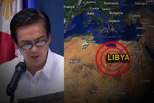 DFA Spokesperson Charles Jose; Libya Google Map