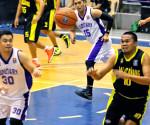 Ang tinanghal na Best Player of the Game na si Department of Tourism Staff Samuel Ignacio na kumamada ng 18 points at humatak ng 7 rebounds para sa Malacanang Patriots. (Marvin Pongos / Photoville International)