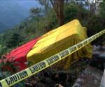 Ang naaksidenteng bus ng Victory Liner sa Brgy. Taloy, Tuba, Benguet (UNTV News)