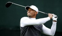Jan 30, 2015; Scottsdale, AZ, USA; Tiger Woods hits his drive on the 17th hole during the second round of the Waste Management Phoenix Open at TPC Scottsdale. Mandatory Credit: Rob Schumacher-Arizona Republic via USA TODAY Sports -