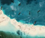 Satellite Image: China reclamation activity (REUTERS)