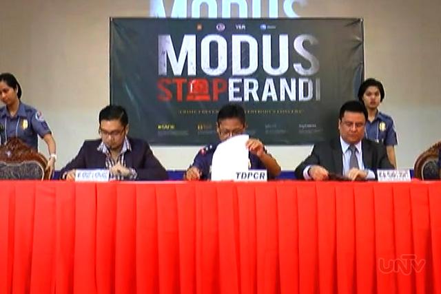 """Ang paglulunsad ng PNP ng """"Modus Stoperandi"""" (UNTV News)"""