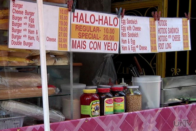 FILE PHOTO: Snacks and Halo-halo stand (UNTV News)