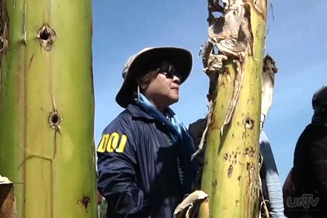 FILE PHOTO: Si DOJ Secretary Leila De Lima sa pag-ocular inspection sa pinangyarihan ng Mamasapano incident noong January 25, 2015. (UNTV News)