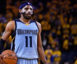 Memphis Grizzlies guard Mike Conley (11) prepares to shoot a free throw during the fourth quarter in game two of the second round of the NBA Playoffs against the Golden State Warriors at Oracle Arena. The Grizzlies defeated the Warriors 97-90. Mandatory Credit: Kyle...