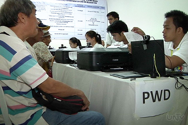FILE PHOTO: Application process at Human Rights Victims Claims Board (UNTV News)