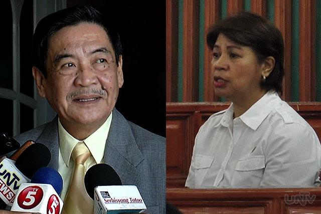 (Left-Right) Former APEC Partylist Representative EDGAR VALDEZ; PDAF Scam Whistleblower Marina Sula (UNTV News)