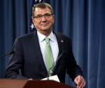 U.S. Defense Secretary Ash Carter arrives to make a personnel announcement in the Pentagon Briefing Room in Washington May 13, 2015. REUTERS/YURI GRIPAS