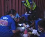Ang pagresponde ng UNTV News and Rescue Davao sa isang aksidente na kinasasangkutan multicab at taxi. (UNTV News)