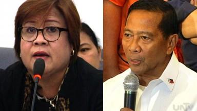 FILE PHOTO: DOJ Sec. Leila De Lima and Vice President Jejomar Binay (UNTV News)