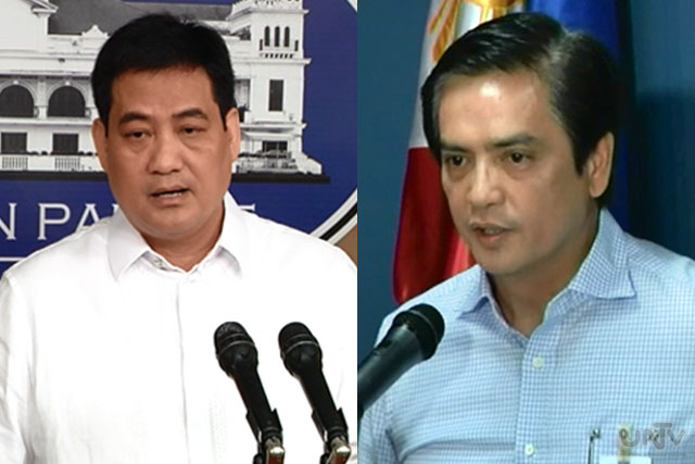 FILE PHOTO: Presidential Spokesperson Sec. Edwin Lacierda and Department of Foreign Affairs Spokesperson ASec. Charles Jose (UNTV News)