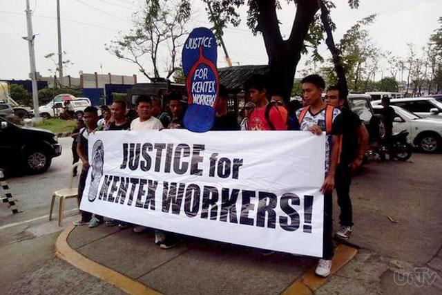 Ang pagdulog ng Justice for Kentex Workers Alliance sa Office of the Ombudsman upang sampahan ng reklamo ang ilang opisyales ng DOLE at BFP officials. (JOYCE BALANCIO / UNTV News)