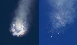 An unmanned SpaceX Falcon 9 rocket explodes after lift-off from Cape Canaveral, Florida, June 28, 2015. REUTERS/Mike Brown
