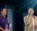 "(Left-Right) ASOP Song of the Month ""Pahintulutan Mo"" composer Leandro De Jesus III and interpreter Jon Philippe Go (Madz Milana / Photoville Interanational)"