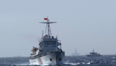 FILE PHOTO: A Chinese Coast Guard vessel sails in the South China Sea. China refuses to participate in the arbitration of its dispute with the Philippines over territorial waters. (REUTERS)
