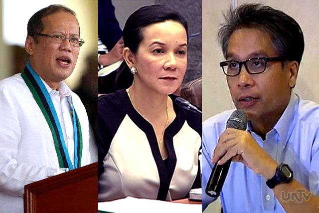 FILE PHOTO: (L-R) President Benigno Aquino III, Sen. Grace Poe at DILG Sec. Mar Roxas (UNTV News)