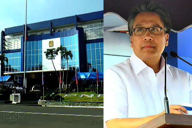 FILE PHOTO: PNP facade and DILG Sec. Mar Roxas (UNTV News)