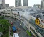 Kuha mula sa UNTV Drone nitong Huwebes habang isinasagawa ang Metro Manila Shake Drill. (UNTV News)