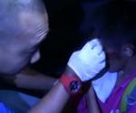 Ang biktima ng hit and run habang nilalapatan ng first aid ng UNTV News Rescue team Laguna.