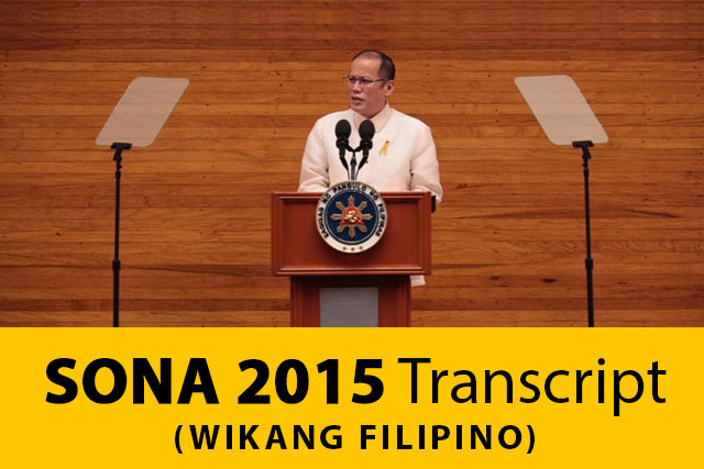 FILE PHOTO: SONA 2014 (PCOO)