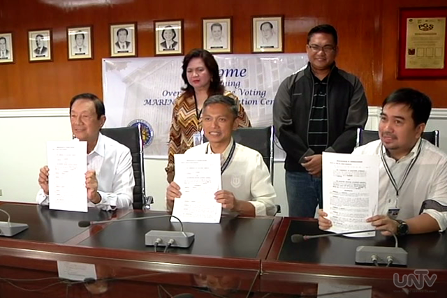 DFA, COMELEC and MARINA signs a Memorandum of Agreement enabling Filipino seafarers to register abroad