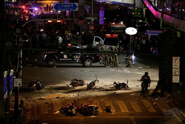 Blast site at a crossing in Bangkok, Thailand. (Photoville International)