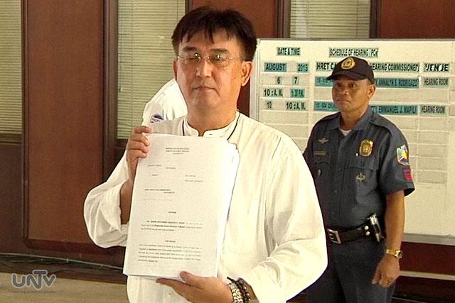 Former senatorial candidate Rizalito David files petition at Senate Electoral Tribunal to remove Senator Grace Poe at post. (UNTV News)