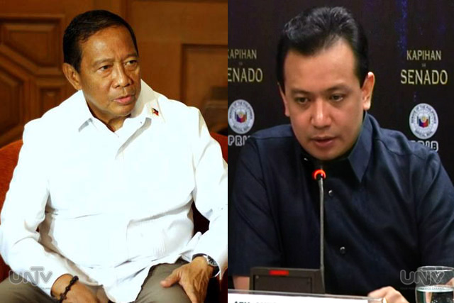 FILE PHOTO: Vice President Jejomar Binay & Sen. Antonio Trillanes IV (UNTV News)