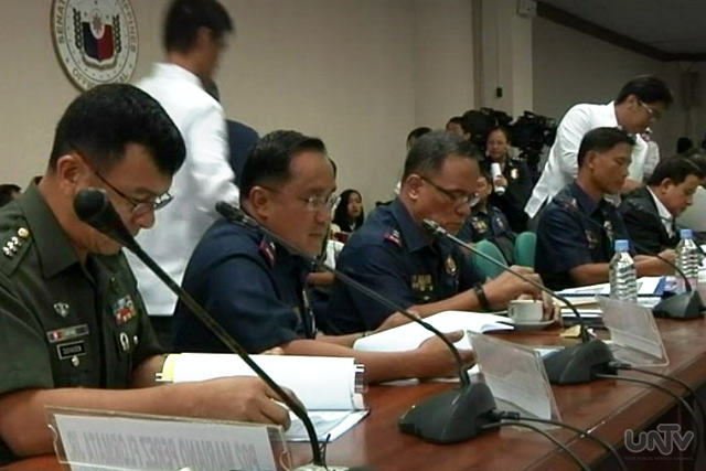 PNP leaders at the senate hearing on police modernization