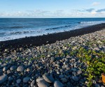 General view of the beach where a large piece of plane debris was found on Wednesday in Saint-Andre, on the French Indian Ocean island of La Reunion, July 30, 2015. REUTERS/Zinfos974/Stringer