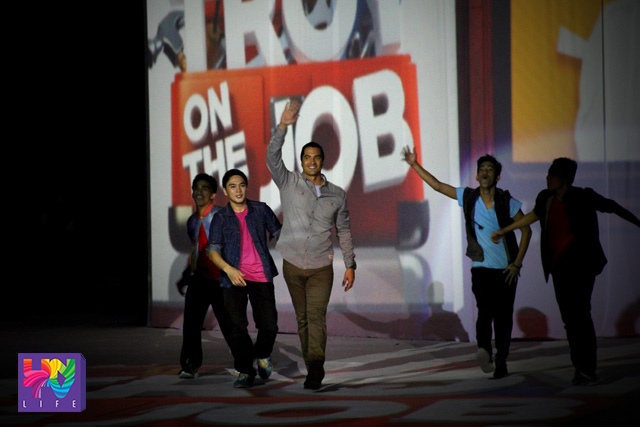 Actor Troy Montero walks the runway during the launch of his new show on UNTV.