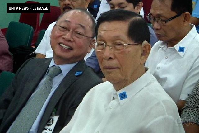 FILE IMAGE: Senator Juan Ponce Enrile (UNTV News)