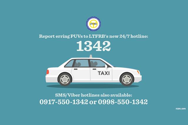 1342 - LTFRB's 24/7 hotline (PCOO)
