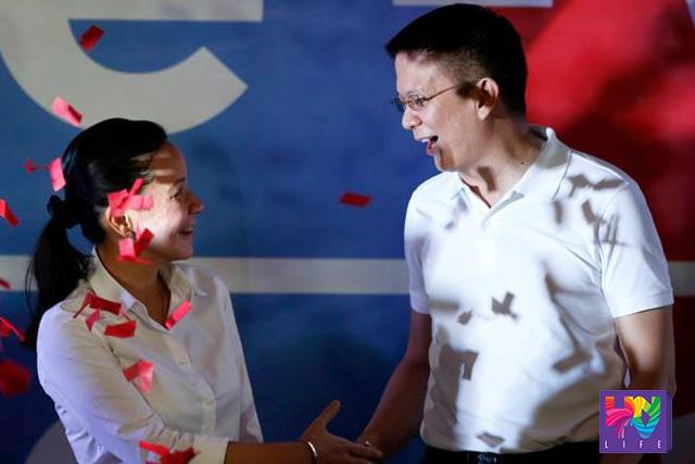 FILE PHOTO: Ang paglulunsad ng tambalang POE-CHIZ para sa 2016 election noong Setyembre 17, 2015 sa Club Filipino. (Photoville International)