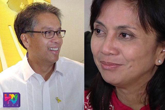 FILE PHOTO: Sec. Mar Roxas and Rep. Leni Robredo (UNTV News)